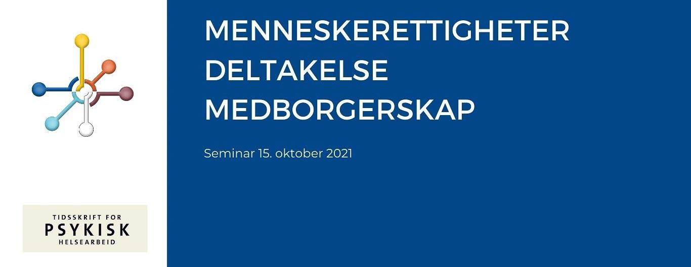 Tekstplakat: Menneskerettigheter, deltakelse og medborgerskap (bilde)