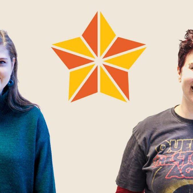 Bilde: Silje og Elizabeth, praktikanter på Glimt recoverysenter